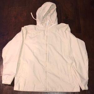 Old Navy Cream Packaway Hood Lightweight Jacket